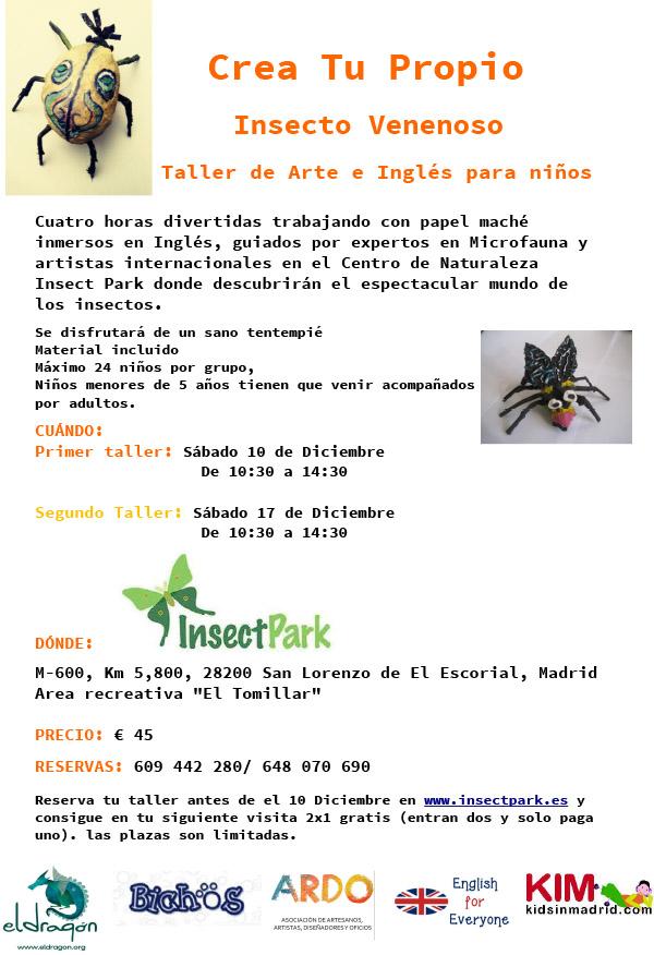 Inscribete Taller Crea Tu Propio Insecto Venenoso Arte e Ingles